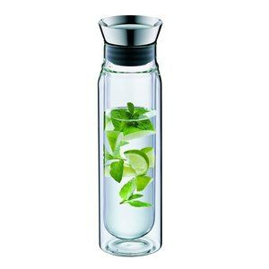 Alfi 0.75 L Double Wall Clear Glass Carafe Pitcher
